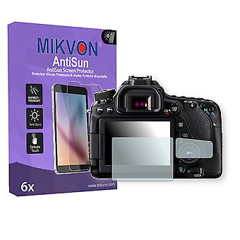 Canon EOS 80D Screen Protector - Mikvon AntiSun (Retail Package with accessories)