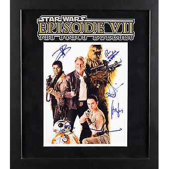 Star Wars - The Force Awakens Signed Movie Photo - Framed Artist Series