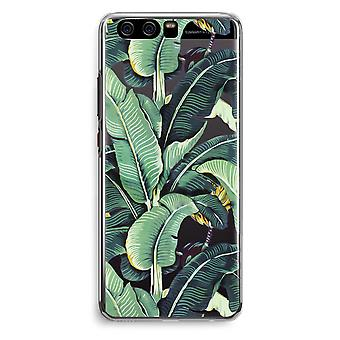Huawei P10 Transparent Cover (Soft) - Banana leaves