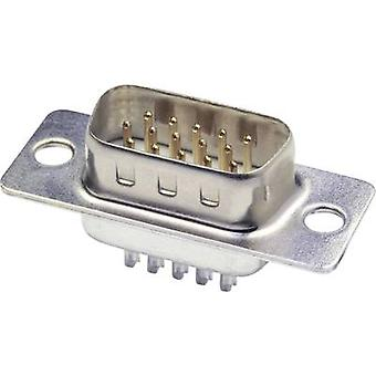 D-SUB pin strip 180 ° Number of pins: 44 Solder bucket econ conn