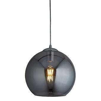Balls Chrome Large Pendant With Smoked Glass - Searchlight 1632sm