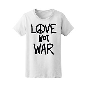 الحب لا الحرب المحملة للمرأة-الصورة عن طريق Shutterstock