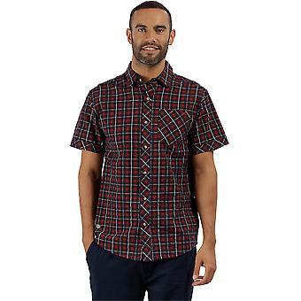 Regatta Mens Deakin II Coolweave Cotton Kortärmad Button Down skjorta