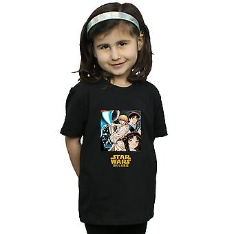 Star Wars Girls Character Anime T-Shirt