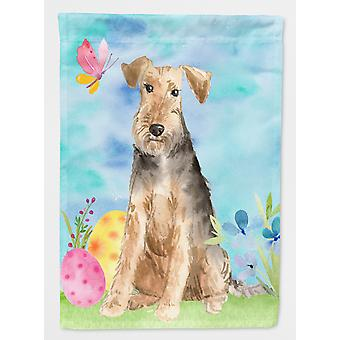 Carolines Treasures  CK1895GF Easter Eggs Welsh Terrier Flag Garden Size