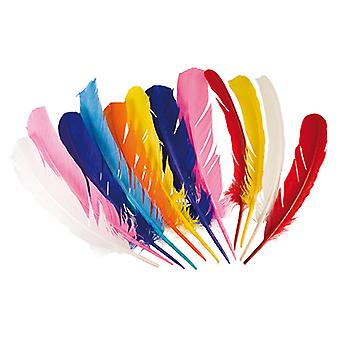 Boland Native American Indian Feathers Asst Colours Fancy Dress Accessories 12PK