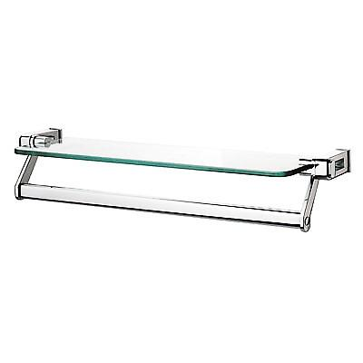 Sonia Glass Shelf with Towel Rail 60cm chrome 118953