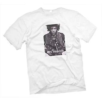Dame T-shirt - Jimi Hendrix - Guitar legende