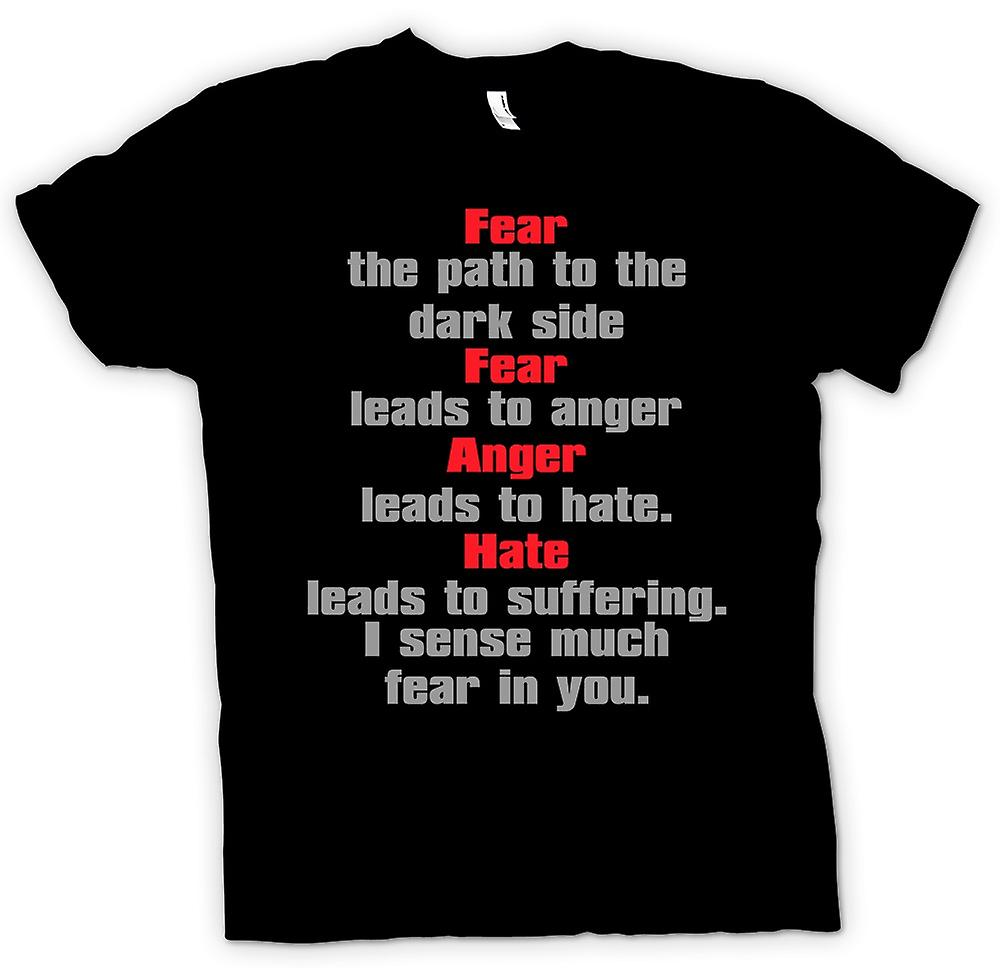 Mens T-shirt - Fear Is The Path To The Dark Side - Quote