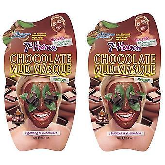 7th Heaven Chocolate Mud Masque 2 Pack