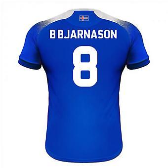 Maillot de foot domicile Errea 2018-2019 Islande (B Bjarnason 8)