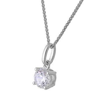 Orphelia Silver 925 Chain With Pendant Stud Zirconium   ZH-7010