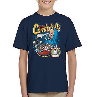Cornholios frokostblanding Beavis og rumpe hodet Kids t-skjorte
