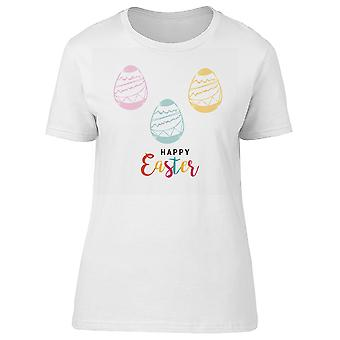 Happy Easter Three Easter Eggs Tee Women's -Image by Shutterstock
