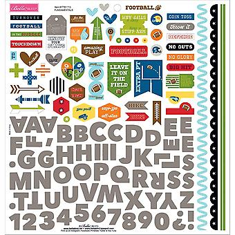 Football Cardstock Stickers 12