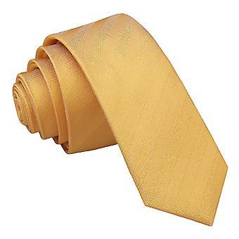 Primrose geel Herringbone zijde mager gelijkspel