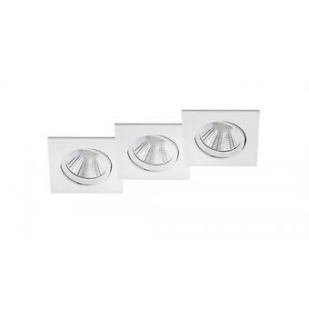 Трио освещения Памир современный белый металл Мэтт потолочная лампа