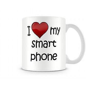 Amo la mia tazza stampata di SmartPhone