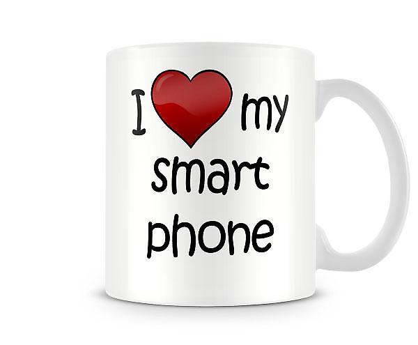 Jag älskar min SmartPhone tryckta mugg