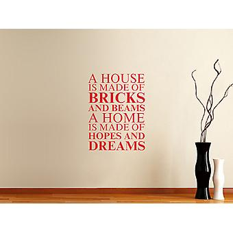 A house is made of Wall Art Sticker - Cherry Red