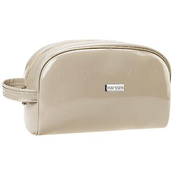Baby Star Patent Leather Toiletry Bag Sand