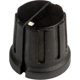 SCI PN-38D (6.4mm) Control knob + hand Black (Ø x H) 15.5 mm x 14.2 mm 1 pc(s)