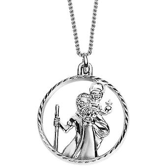 Oeste de Orton Cut Out St Christopher colgante - Plata