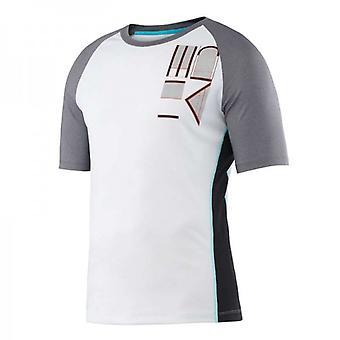 Hoofd overgang T4S shirt mannen-grijs/wit