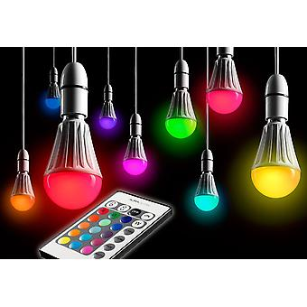 10w Remote Control Colour Changing LED Light Bulb E27 Super Bright Dimmable Version - 2nd Gen - AG175 [Energy Class A]