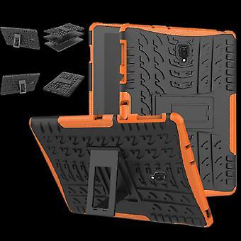 Buiten beschermhoes Case oranje van de Hybrid case voor Samsung Galaxy tab A 10.5 T590 / T595-2018 bag