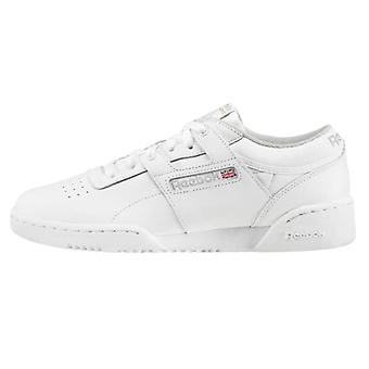 Reebok Mens Workout Low Classic Leather Low Top Lace Up Running Sneaker
