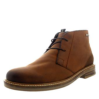 Mens Barbour Redhead Chukka Smart Tan Office Leather Shoes Ankle Boots