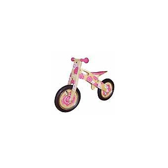Einfach Holz Laufrad für Kinder rosa Blume