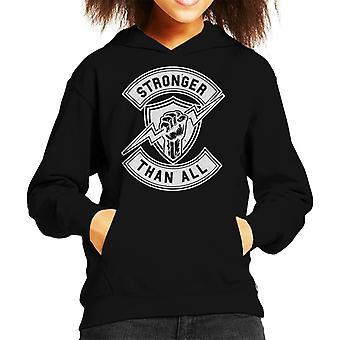 Stronger Than All Kid's Hooded Sweatshirt