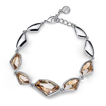 Oliver Weber armband Galactische Rhodium, gouden schaduw, geometrisch ontwerp