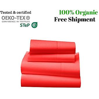 1000 Tc-100% Egyptian Cotton Bed Sheet Set-red