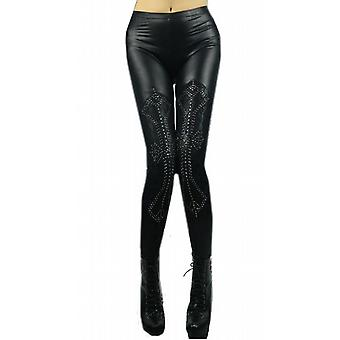 Waooh - mode - legging leder met strass