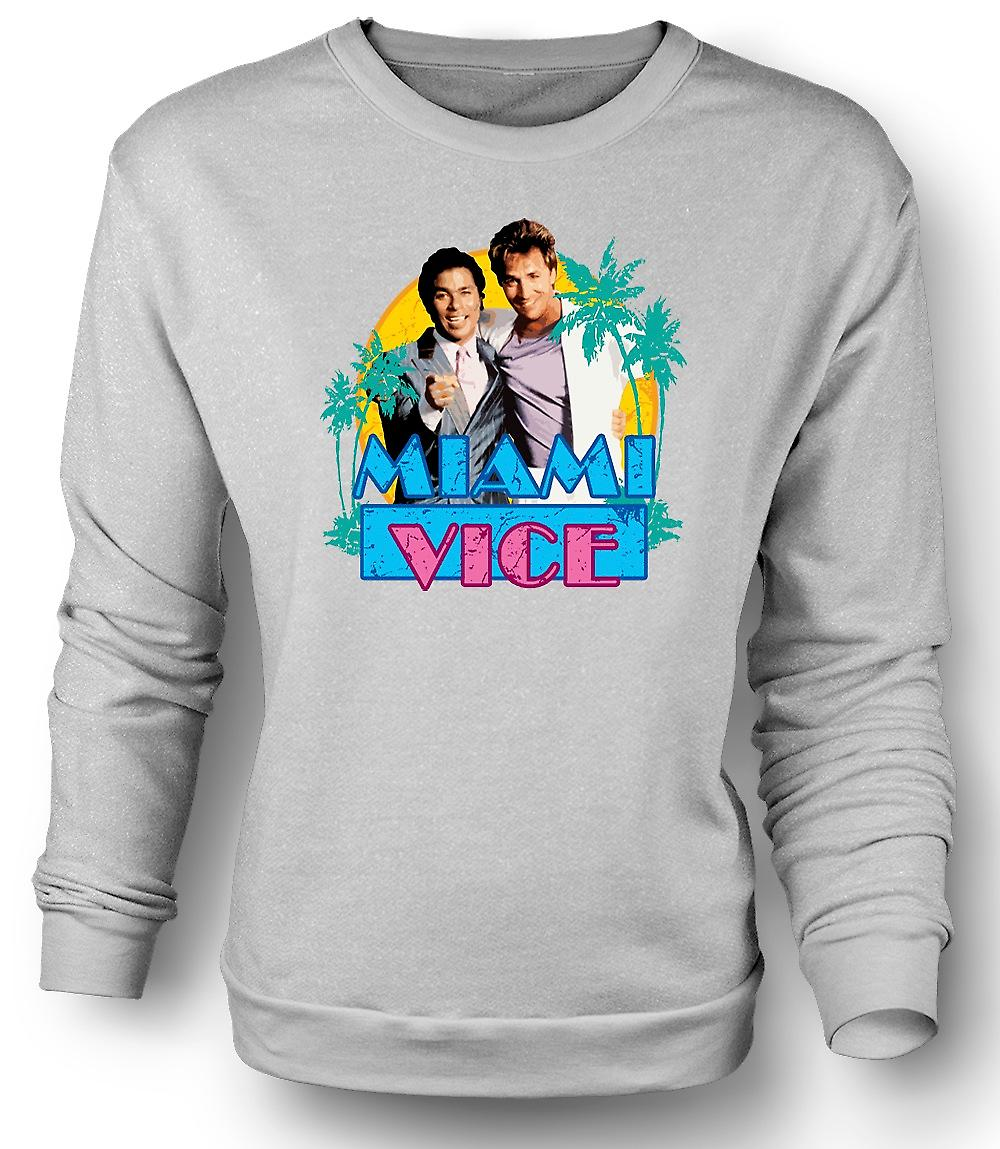 Mens Sweatshirt Miami Vice - Crockett och Tubbs