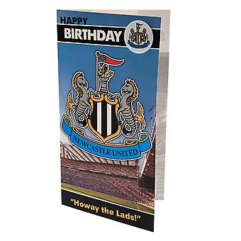 Newcastle United FC Birthday Card And Badge