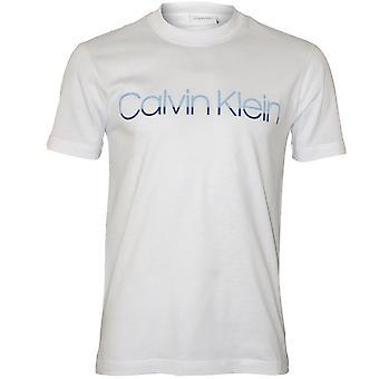 كالفين كلاين شعار نغمتين الطاقم-رقبته القميص، الأبيض الكمال