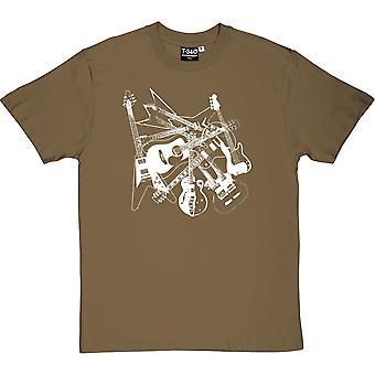 Rozproszone gitary Men's T-Shirt