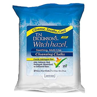 T.n. dickinson's witch hazel cleansing cloths, 25 ea