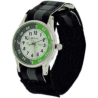 10X Bulk For School Reflex Time Teacher Kid Boy Black Easy Fasten Watch REFK0003