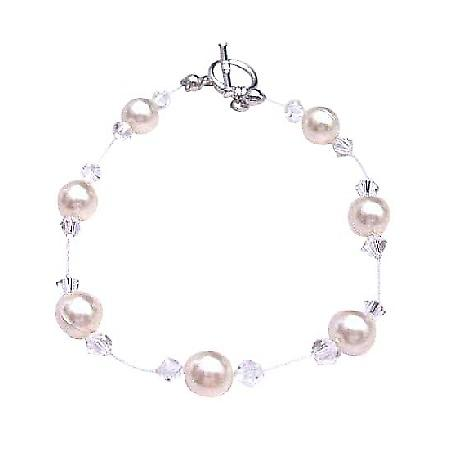 Ivory Pearls Clear Crystals Bracelet Swarovski Under $10 Jewelry
