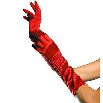 Handschuhe Ellenbogen Länge weiß