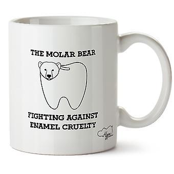 Hippowarehouse The Molar Bear Fighting Against Enamel Cruelty Printed Mug Cup Ceramic 10oz