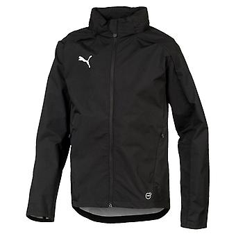 PUMA LIGA Training Rain Jacket Jr Kinder Regenjacke Schwarz-Weiss