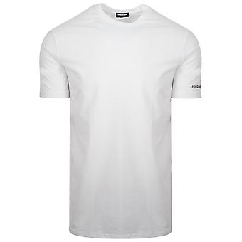 DSQUARED2 Underwear DSQUARED2 White Hashtag Logo T-Shirt