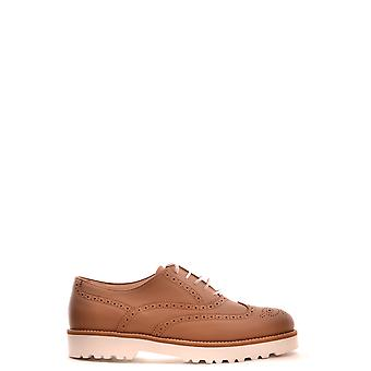 Hogan Brown Leather Lace-up Shoes