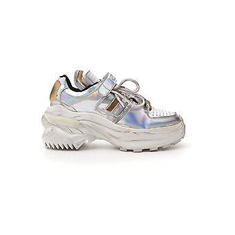Maison Margiela Grey Leather Sneakers